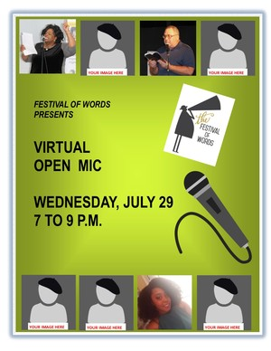 virtual open mic July